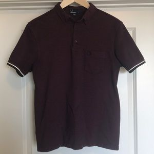 Men's Fred Perry Polo Maroon